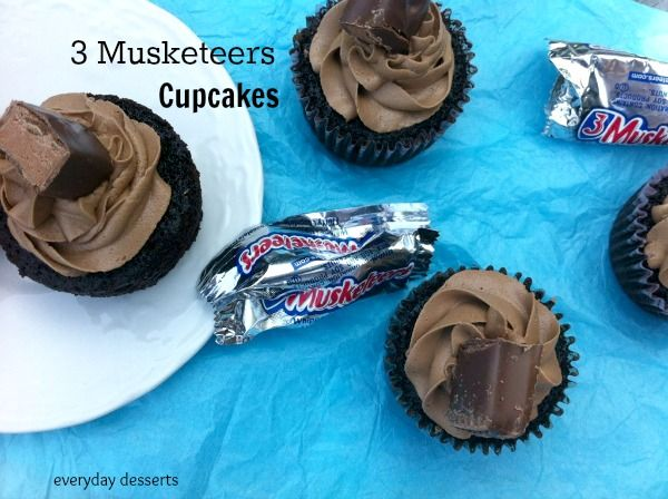 Everyday Desserts: 3 Musketeers Cupcakes