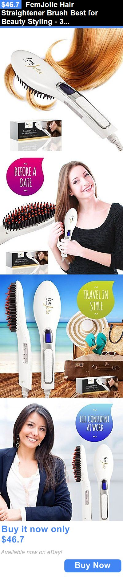 Hair Beauty: Femjolie Hair Straightener Brush Best For Beauty Styling - 3 In 1 Professiona... BUY IT NOW ONLY: $46.7