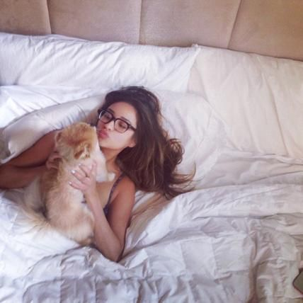 Celebrity Pets and Their Famous Parents - Foxy, Shay Mitchell's Dog from #InStyle