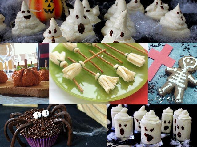 Fantasmas, arañas y escobas de brujas son algunos de los protagonistas de las 'tenebrosas' y deliciosas recetas que recopila en este post la autora del blog JULIA Y SUS RECETAS.