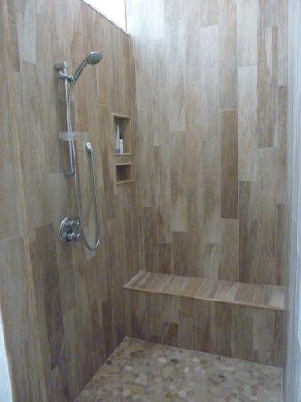 "natural ""wood"" tile effect with longitudinal design"
