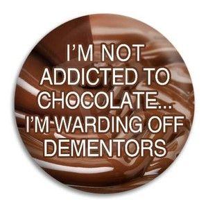 CHOCOLATE Warding Off Dementors  HARRY POTTER    Funny  FRIDGE MAGNET   55mm