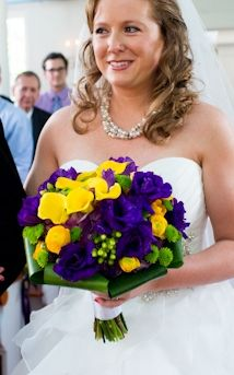 25 best purple yellow wedding flowers images on pinterest bridal yellow calla lilies purple lisianthuis brighht green yoko ono mums and hypericum berries framed yellow wedding flowerswedding mightylinksfo