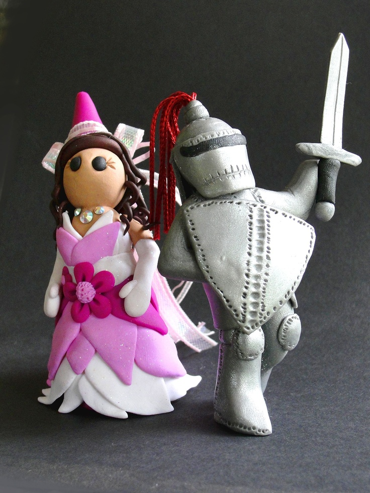 Knight And Princess Wedding Cake Toppers