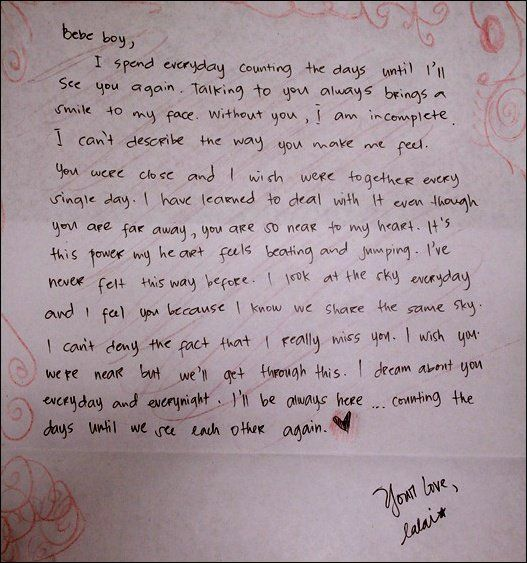 Written love letters for him