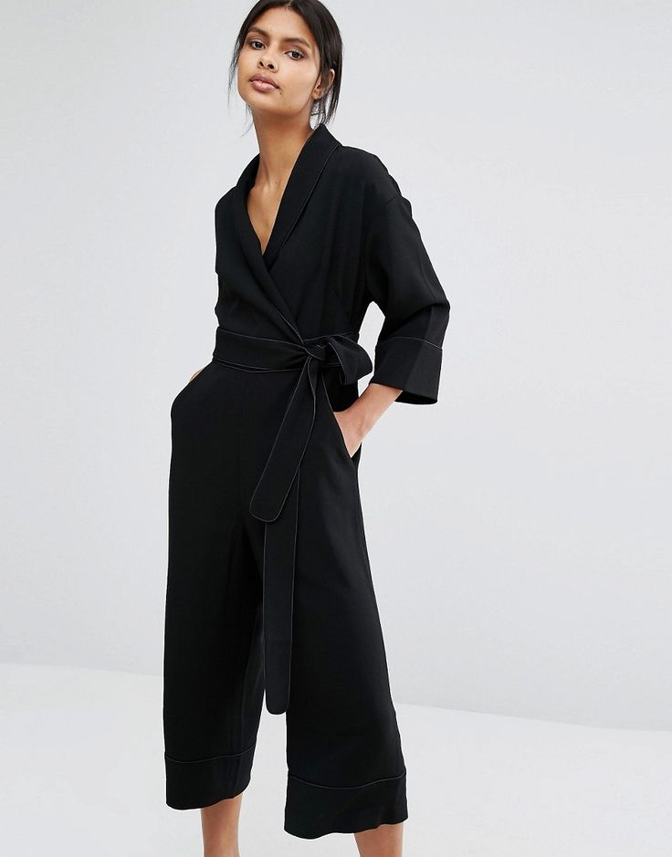 Whistles Ruby Wrap Tie Jumpsuit - Black by: Whistles @Asos (FI)