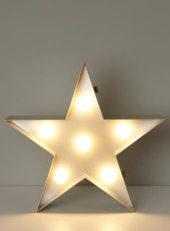 BHS // Illuminate // Star Metal Table/Floor Lamp // Circus/industrial style light with exposed bulbs
