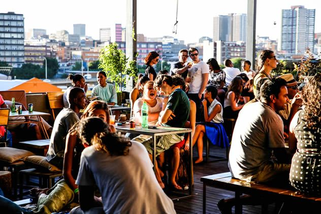 5 Rooftop Bars IN Jozi  The rooftop bar at The Living Rooms