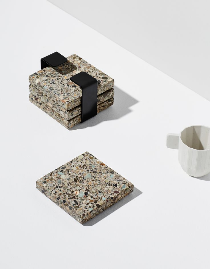 Habitat Terrazzo Trivet Set. Styling Bek Sheppard, Photography Annette O'Brien. Available at onthesly.com.au