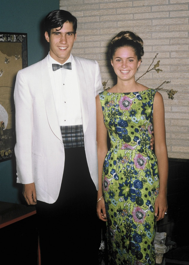 This 1965 photo provided by Romney for President Inc. shows Mitt Romney with his future wife, Ann Davies, on the day of Romney's senior prom in Bloomfield, Mich.