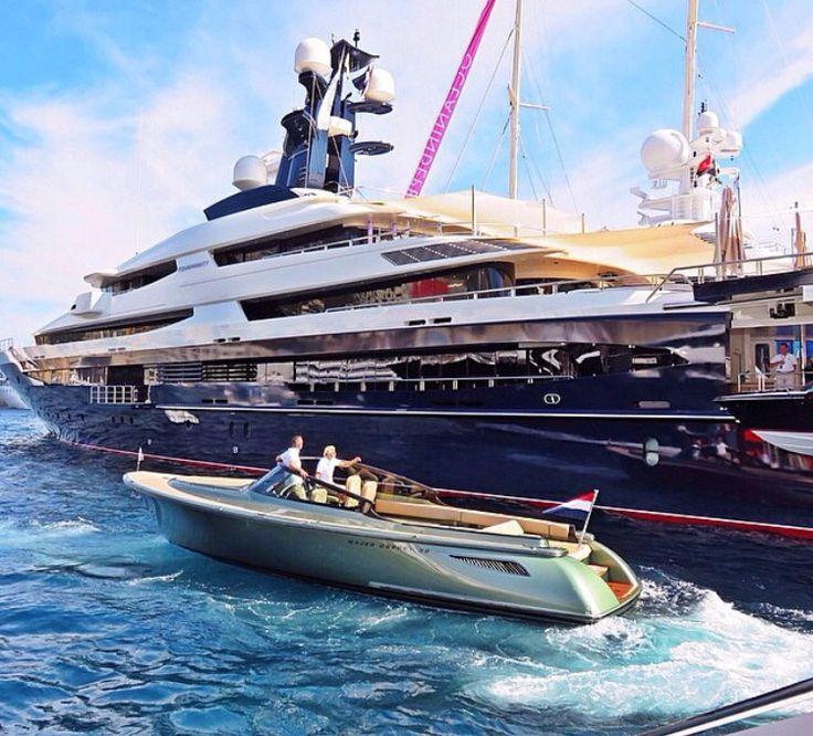 Stylish Superyacht And Tender.