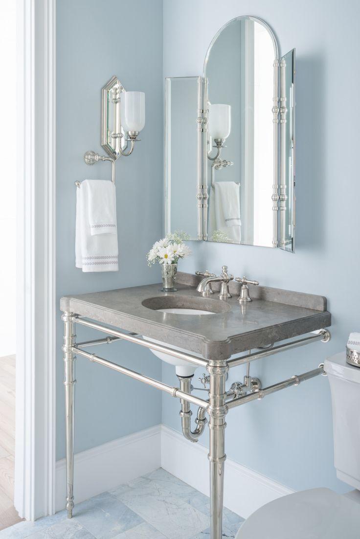 Silver grey bathroom paint - Reu Architects Bathroom Paint Color Is Benjamin Moore Silver Gray