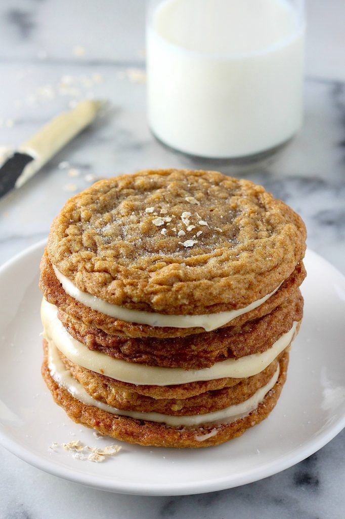 Gingerbread Oatmeal Cream Pies