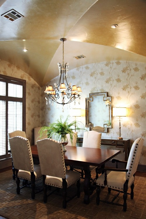 : Decor, Dining Rooms, Gold Ceiling, Idea, Johnston Larkin, Ceilings, Emily Johnston