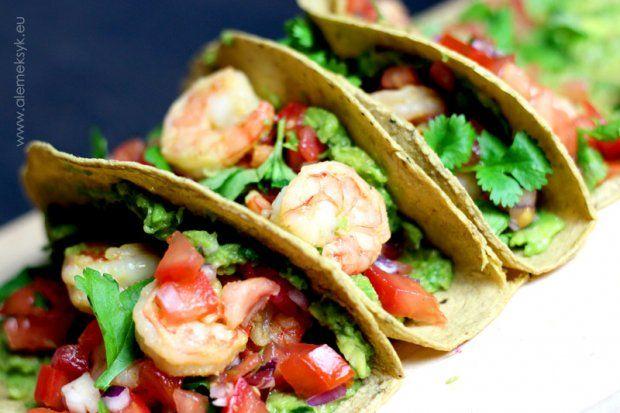TACOS WITH SPICED SHRIMPS, GUACAMOLE AND SALSA PICO DE GALLO // MEKSYKAŃSKIE TACOS Z KREWETKAMI