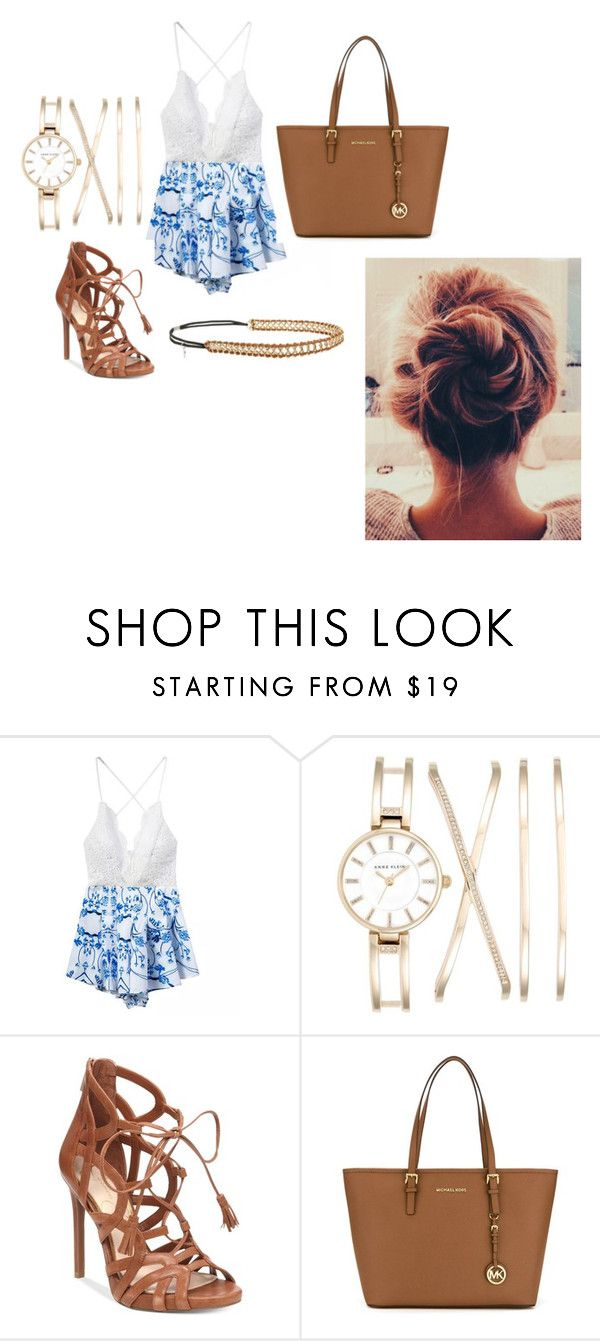 """""""Romper"""" by olivia-martinez-i ❤ liked on Polyvore featuring Chicnova Fashion, Anne Klein, Jessica Simpson, MICHAEL Michael Kors and Berry"""