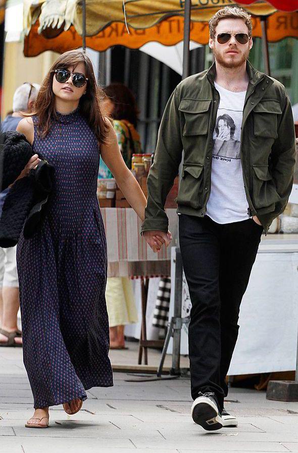 Jenna Coleman and boyfriend Richard Madden enjoy time off with ...