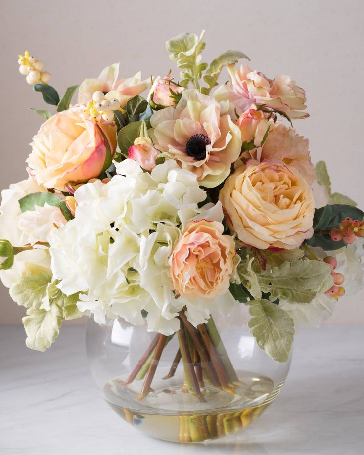 Balsam Hillu0027s Jane Arrangement Features A Mix Of Hydrangeas, Anemone,  Roses, And Berries. Artificial Flower ArrangementsArtificial FlowersFloral  ...