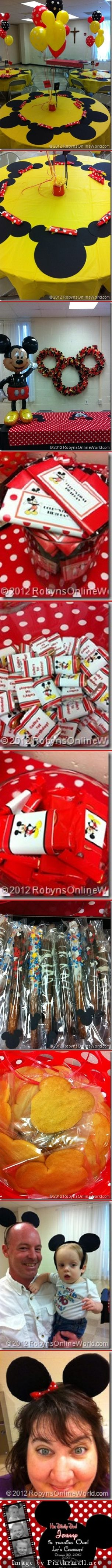 DIY Mickey Mouse and Minnie Mouse Birthday Party Decorations and Treats