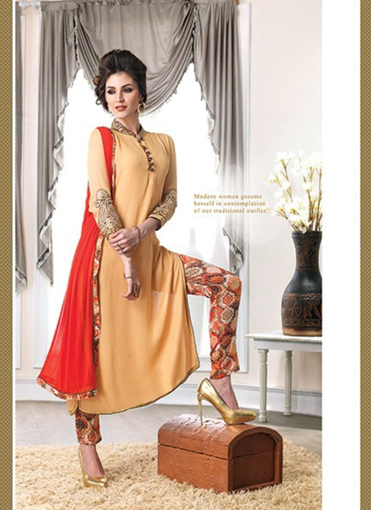 Wow...Cream Wholesale Salwar kameez Catalog Collection  Buy latest salwar Kameez Catalog @ http://www.suratwholesaleshop.com/salwar-kameez?view=catalog