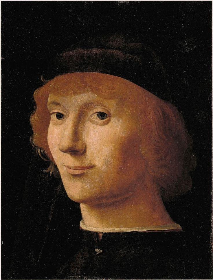 ❤ - Antonello da Messina (1430 - 1479) - A Portrait of a Man