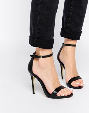 New Look Paz Leather Barely There Heeled Sandals