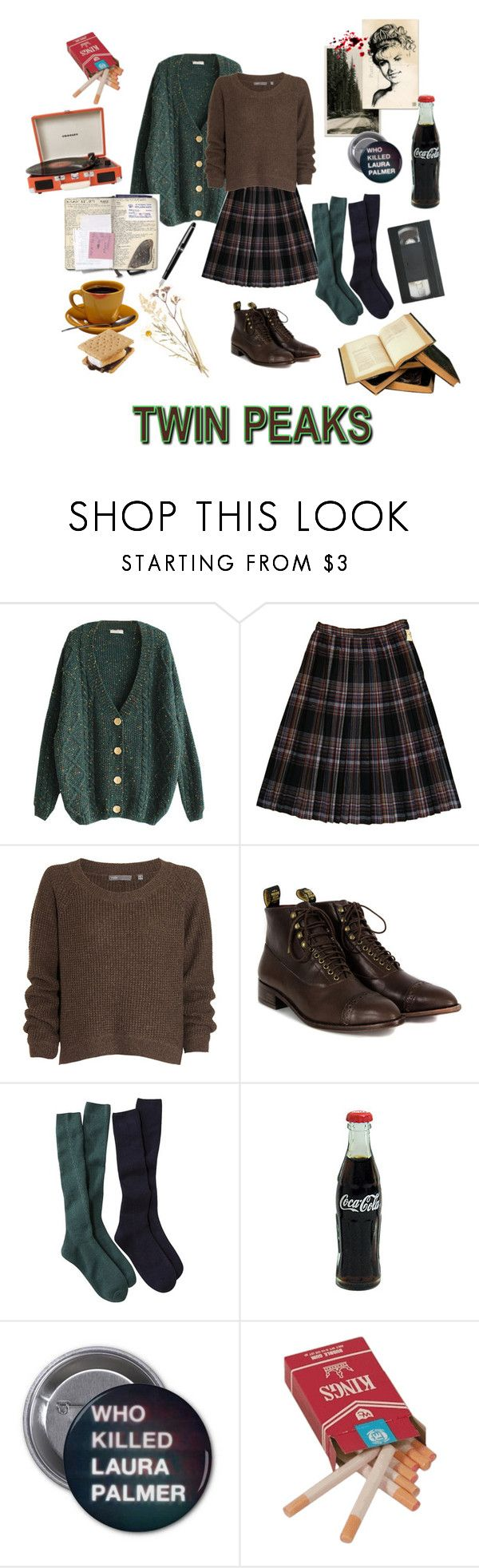 """""""Who Killed Laura Palmer?"""" by suprisebitch666 ❤ liked on Polyvore featuring Vince, F-Troupe, Fountain and Crosley"""