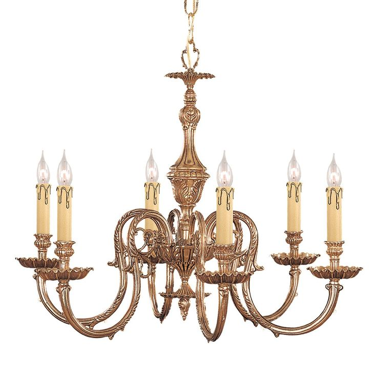 Crystorama Lighting 2606 OB 6 Light Novella Chandelier, Olde Brass | ATG  Stores