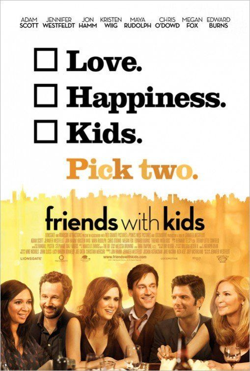 FRIENDS WITH KIDS. I'm still not sure if I'd seen this text book romcom before. Don Draper disappoints. 2.5 stars