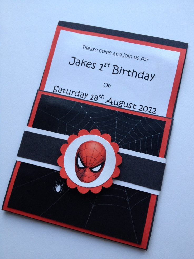 Handmade Spiderman Party Invitations Amp Envelopes Set Of 10
