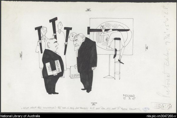 """Molnar, George, 1910-1998. """"What about this compromise? We use it only for concerts but you can still call it Opera House."""""""