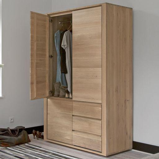 Oak Shadow Wardrobe 3 Door 2 Drawer by Ethnicraft NV - Lekker Home