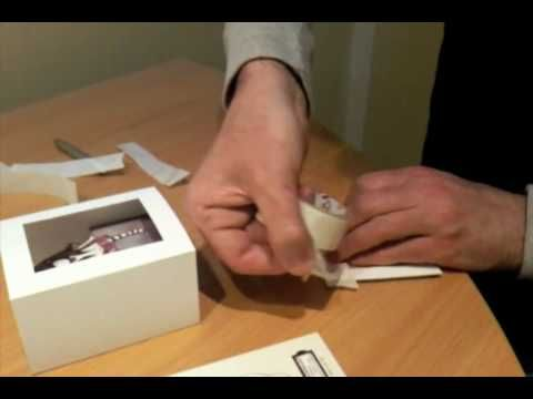 Gorjuss box Card that folds flat for posting. Video is very fast so may have to watch a few times.