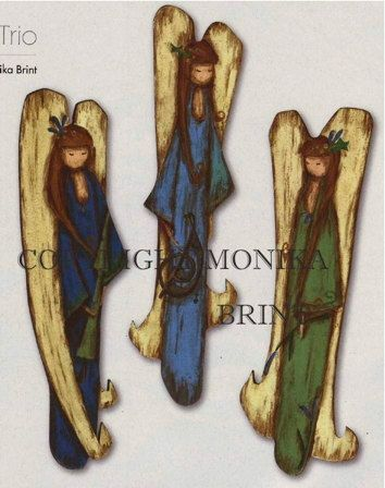 Primitive Angel Woodworking Patterns - #Angel #Woodworking #Pattern - nice, and the choice of colors is well-suited too - not a tut - this is a set of patterns for sale on Etsy - pb†å