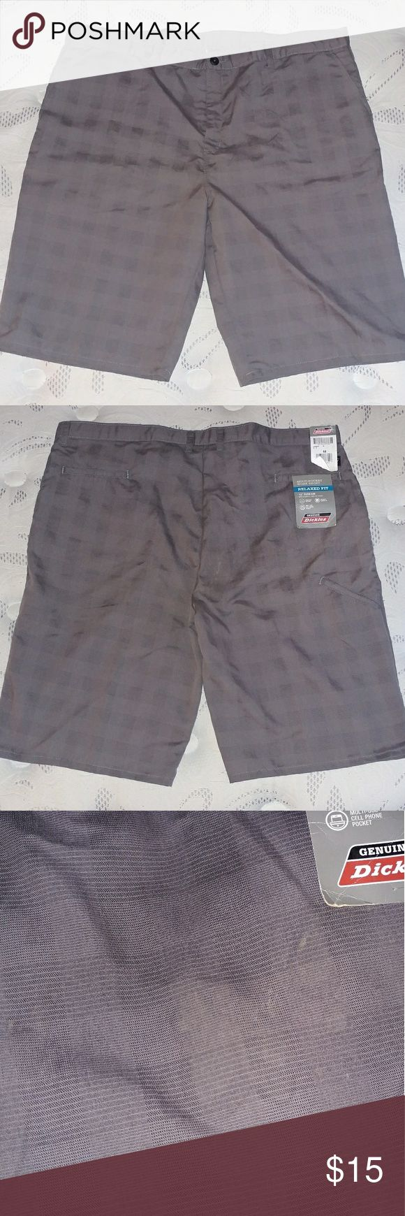 """Men's Dickies Shorts Size 44 NWT Men's work shorts. 13"""" inseam. Grey. (Pictured) Shorts have dirt on them (sorry, that's how they were purchased). Dickies Shorts"""