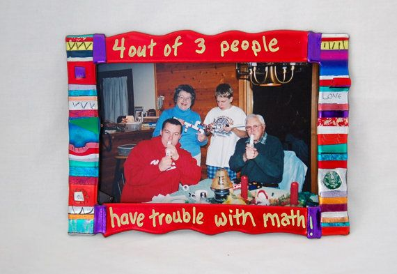 Funny magnetic picture frame - Joke family picture frame on Etsy, $10.00