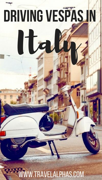 Driving a Vespa in Tuscany is the quintessential Italian experience!