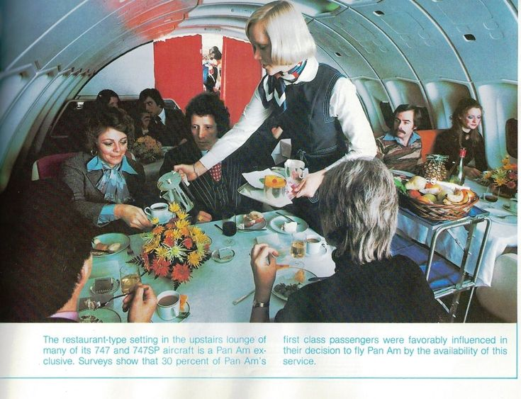 Pan Am 747 Upper Deck Dinning Historical Commercial