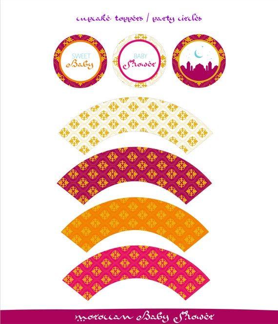 Incluye el set imprimible marroquí estilo Baby Shower:  -Invitación personalizado -Notas de agradecimiento personalizado -Muestra la