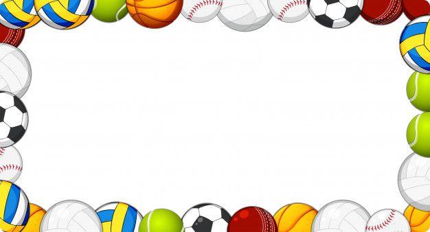 Download A Sport Ball Frame Background For Free En 2020 Pelota Marcos Para Caratulas Fondos De Deportes