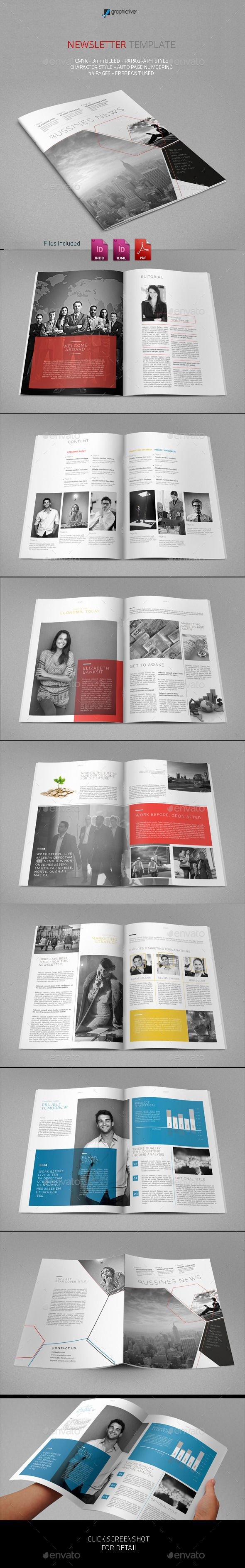 Best Print Newsletter Templates Images On   Print