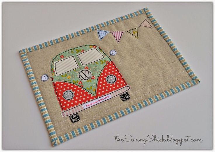 tula pink coastal cruiser VW mug rug the sewing chick - could make for Sel