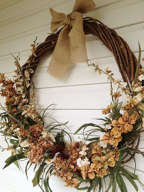 23 Best Primitive Floral Arrangements Amp Grapevine Wreath