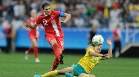 Le duo offensif du Canada s'est mis en valeur lors de la victoire de 2-0 face à l'Australie. Christine Sinclair...