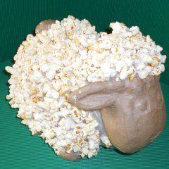 Lammetje van klei en popcorn