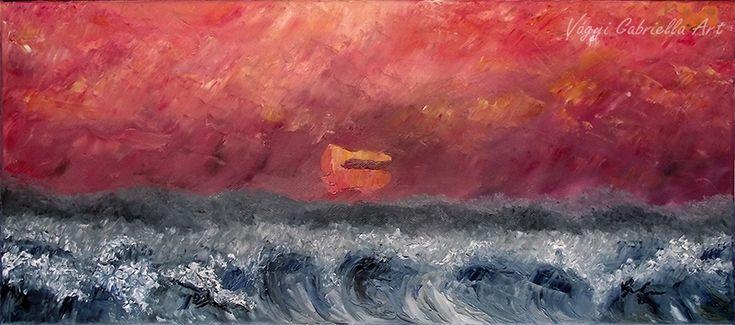 Végtelen nyugalom című olajfestmény - megvásárolható - Alkotásaim - Vágyi Gabriella ART