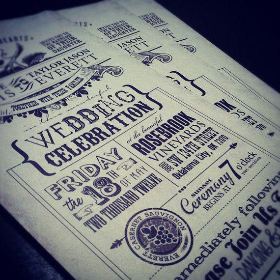 Rustic Vintage Wedding Invitations RSVPs & More by lonijanedesigns, $372.00
