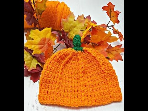 This crochet pumpkin hat is easy and fun to make. You can adjust the sizes for…