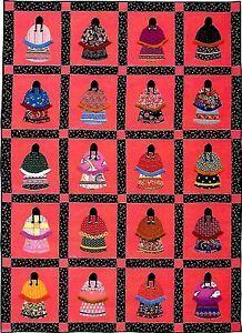 NATIVE-AMERICAN-GIRLS-INDIAN-GIRLS-SCRAP-APPLIQUE-VINTAGE-QUILT-PATTERN