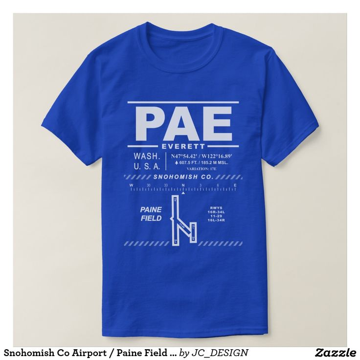 Snohomish Co Airport / Paine Field (PAE) Tee Shirt. Design features air navigation information for Snohomish Co Airport / Paine Field. Great gift for pilots, aviation enthusiasts and world travelers. #kpae #everett #paeairport #avgeek #everettairport #boeing #everettwa #painefield #snohomishcounty #snohomishcountyairport #airport #williamboeing #airportcode #airportcodes, #planespotter #airportcodeshirt #boeingtour #boeinglovers #pilot #boeingfactory #snohomish #washingtonstate #aviation